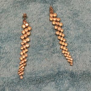 Diva long vintage rhinestone earrings